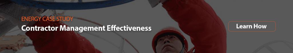 contractor management effectiveness case study